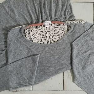 Xhilaration Crochet Flare Blouse